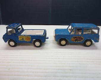 Vintage Tootsie Toy Pick-Up Truck And Bronco