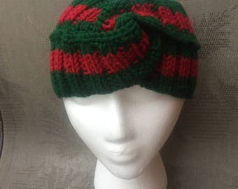 Gucci inspired headband, green, dark red, women, men, Gucci headband style