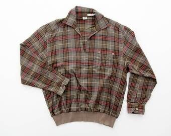 Vintage Shirt // Plaid Mens Top
