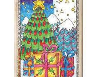 Hampton Art Color Me Christmas Tree Wood Stamp