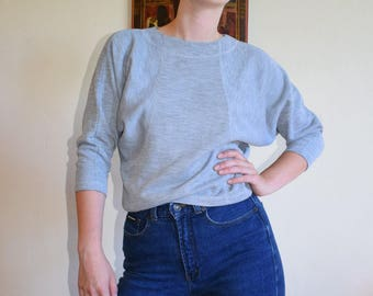 Athletic Grey Dolman Sleeve Top