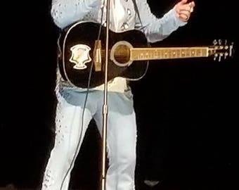 Custom made Elvis Blue Powder Jumpsuit