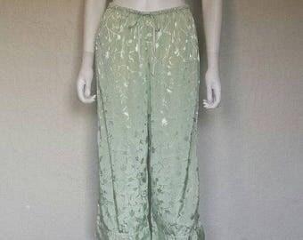 25% off SALE Mint green high water pajama drawstring pants