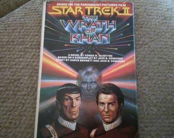 Star Trek II The Wrath of Khan by Vonda N. McIntyre Hardcover 1982 Book