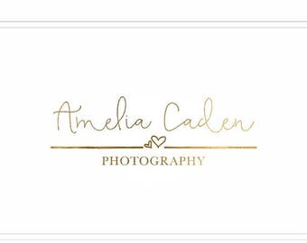 ON SALE Premade Photography Logo + Watermark with Hearts - L014