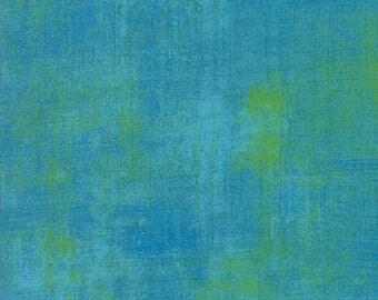 Moda Grunge Basics BACHELOR Blue Lime Green Mottled Background Fabric 30150-342 BTY