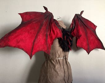 GoT Game of Thrones Drogon inspired articulating wings / dragon wings / costume & cosplay / dragon gift