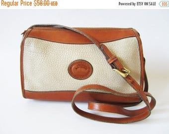 CIJ SALE Authentic DOONEY & Bourke Satchel Tan Cross Body Purse Distressed Genuine Leather Shoulder Bag Saddle Bag All Weather Leather Made