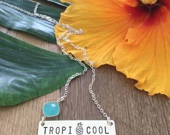 Tropicool Brass Bar Necklace