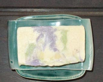 "New Re-Designed "" No Mess Two Piece Soap Dish"""