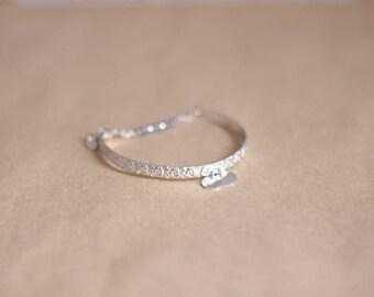 Bracelet half romantic silver ring