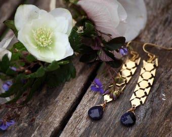 Ancia earrings gold fine gemstones
