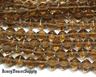 6mm Czech Glass Bicone Beads, Campaign Brown Beads, Glass Beads
