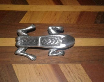 Roman Frog Fibula Brooch -Museum Reproduction - Sterling