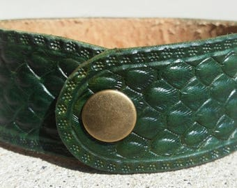 Dragonscale Bracelet Cuff: Green Dragon