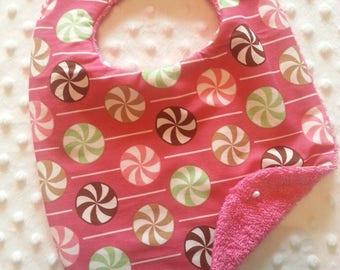 Bib Lollipop 1! Pink back one size