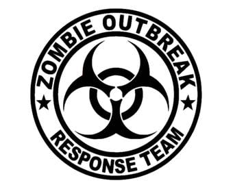 Zombie Outbreak Reasponse Team Decal | Zombie Decal | Zombie Emergency Decal | Walking Dead Zombie Response Team Vinyl Decal | Walking Dead