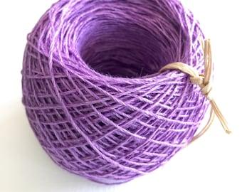 Hand Dyed Linen Yarn
