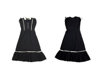 supers e verkauf schwarzes kleid mit wei em kragen kleine. Black Bedroom Furniture Sets. Home Design Ideas