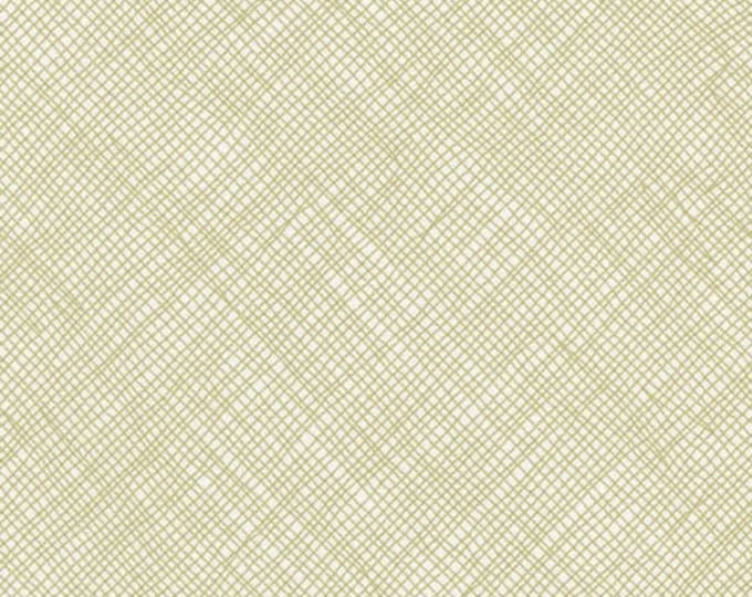 Crosshatch in Limestone- Blake Cotton Knit by Carolyn Friedlander- Robert Kaufman