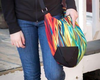 Brightly colored womans purse, handmade bag, ladies shoulder bag, large purse, designer bag, women's hobo handbag, women shoulder purse