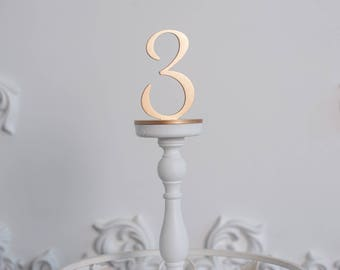 4 Gold Table Numbers, Wedding table numbers