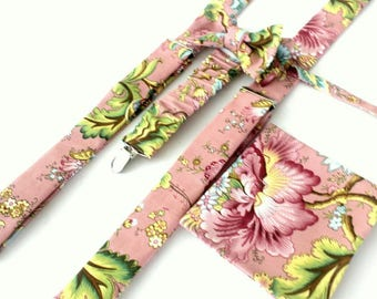 Suspender Set in rosa-pink-floral,coutrystyle