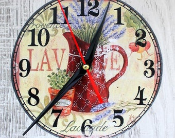 Wall clock, shabby chic, kitchen clock in country style