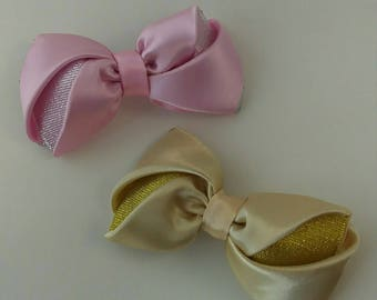 pink -gold bows,beautiful bows,festive bows.