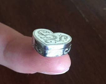 Silver Miniature Heart Jewellery Box
