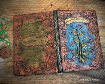Personalized Journal, Custom Journal, Metallic Inspired Journal, Polymer Clay Journal, Personalized Sketchbook, Custom Sketchbook, Diary