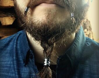 Beard Bead Kit 'Bolton' STAINLESS STEEL industrial beard rings viking accessories Dwarvish beard bead beard accessories beard kit