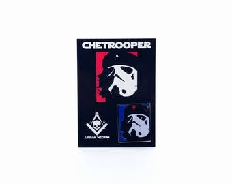 Chetrooper: Red, White and Blue Glow Edition Hard Enamel Pin