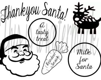 Santa's Plate SVG Instant File Download Christmas Cut File