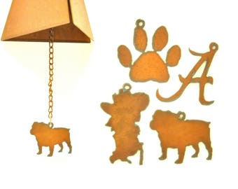 Rusty Wind Chime With Sports Themed Charm Assortment