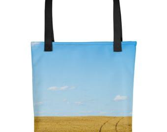 Tote bag - Red Silo Original Art - Wheat Tracks