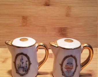 Disneyland Teapot  Salt and Pepper Shaker Japan