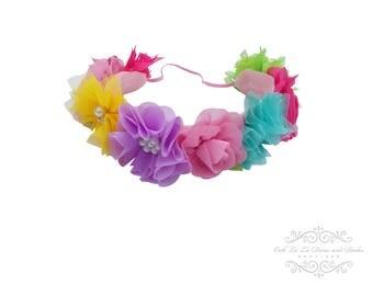 Easter Flower Crown Headband/Flower Crown Headband/Flower Headband Wedding/Baby Girl Headband/Girl Headband Baby/Toddler Headband/Baby Rompe