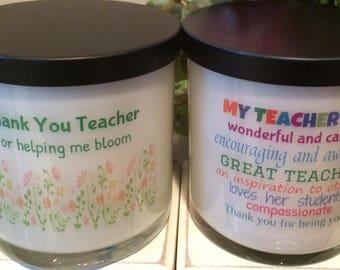 Teacher Gift Candle