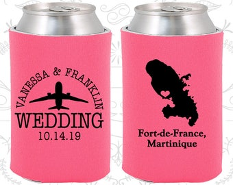 Hot Pink Wedding, Hot Pink Can Coolers, Hot Pink Wedding Favors, Hot Pink Wedding Gift, Hot Pink Party Decorations (183)