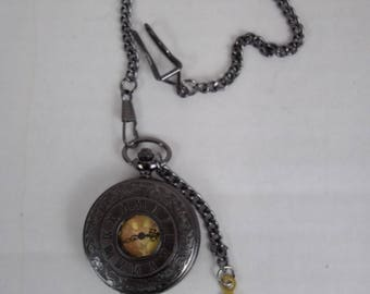 Steampunk pocket watch, Fob watch , time piece, groomsman, quartz watch, wedding