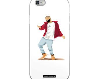 Hotline Bling Drake iPhone 5/5s/Se, 6/6s, 6/6s Plus Case, Dance Tutorial Illustration, Fun Pop Art, Dance Music Funny Drawing, Fan Art (3)