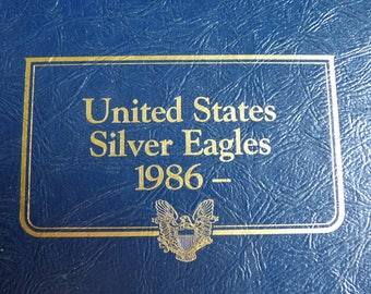 United States Silver Eagle COINS 1886-2006 --21 Coins in All --Preserved in Whitman CLASSIC Album Since New --