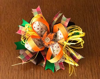 Fall Boutique Style Hair Bow