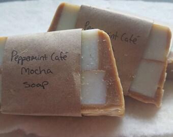 Peppermint Café Mocha soap