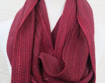 Garnet Red Loop Cowl