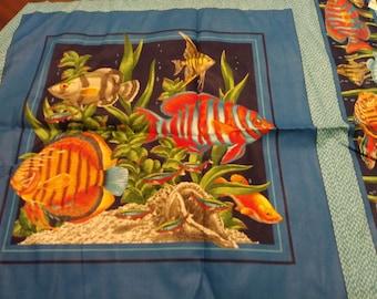 Tropical Fish Pillow Panels