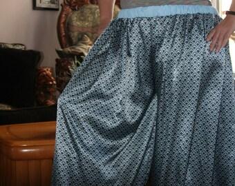 Blue Silky Fabric Pantaloons
