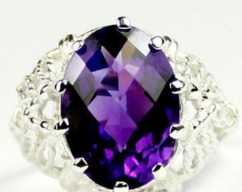 On Sale, 30% Off, Amethyst, 925 Sterling Silver Ring, SR260