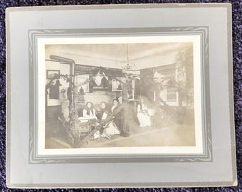 """1900s Original Photo of Woman's Party and Gathering 8"""" X 10"""""""